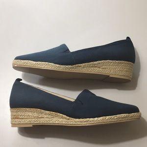 Karen Scott Navy Blue Slip On Espadrille Wedge